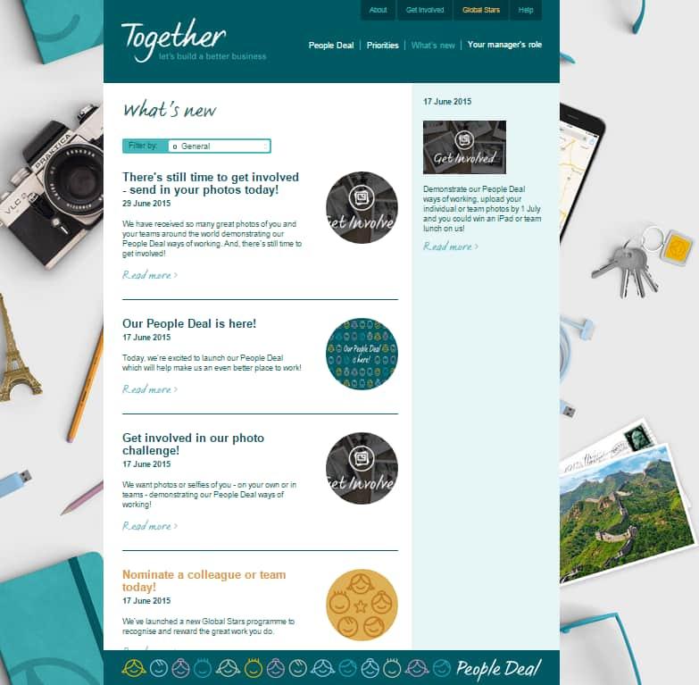 The Kuoni Group Global EVP Process website screenshot talentsmoothie case study