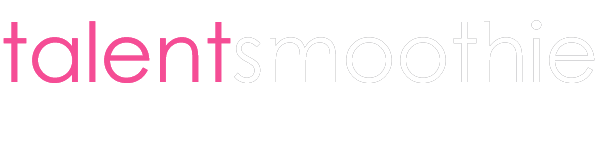 talentsmoothie logo pink white