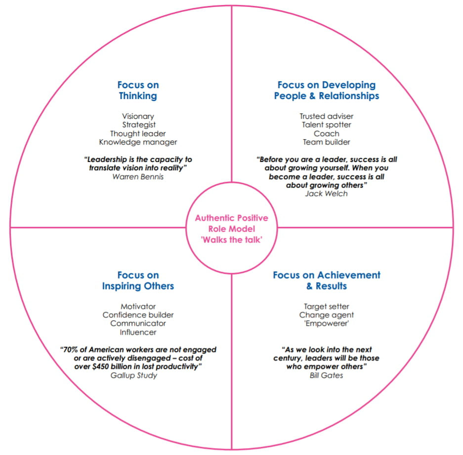The talentsmoothie leadership model, based on Schroder, a talentsmoothie diagram